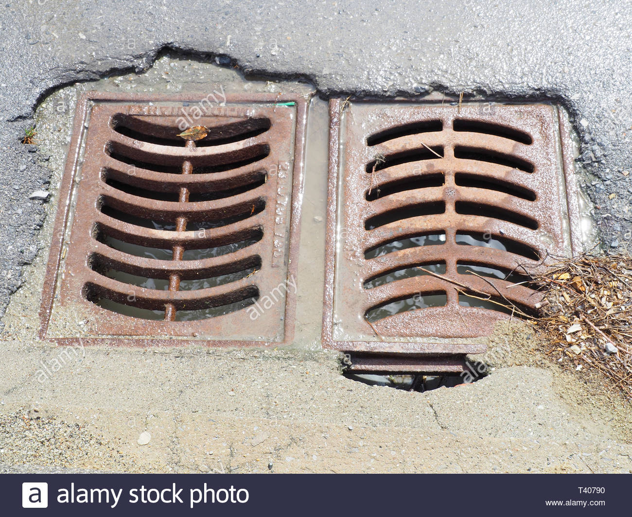 Storm Water Drainage Stock Photos & Storm Water Drainage