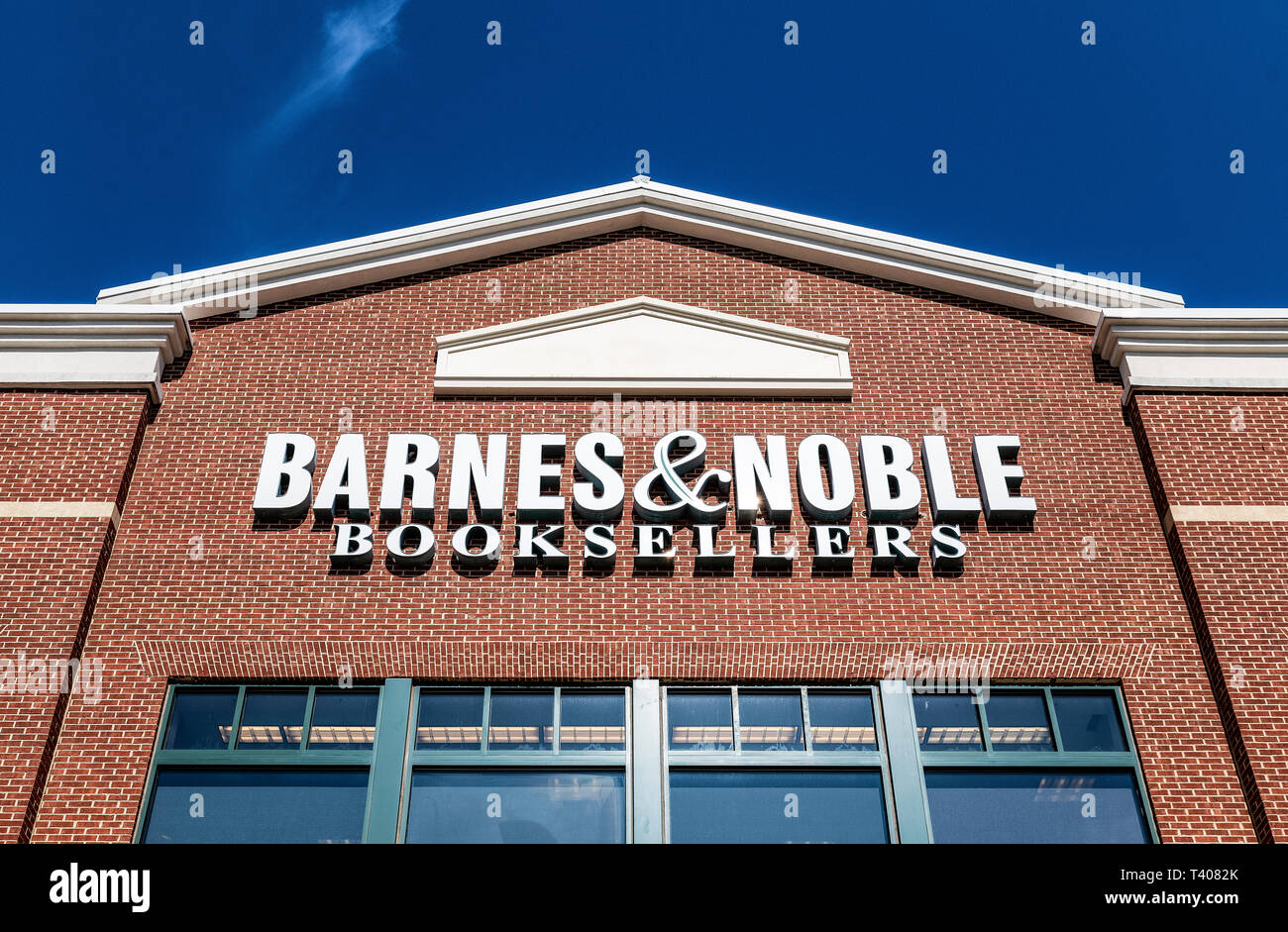 Exterior of Barnes and Noble bookstore, Mall of Georgia, Beuford, Georgia, USA. - Stock Image