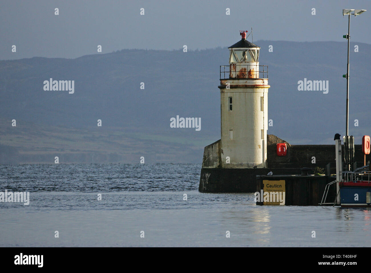 Lighthouse at Ardrishaig on the shores of Loch Gilp Argyll and Bute Scotland UK Stock Photo