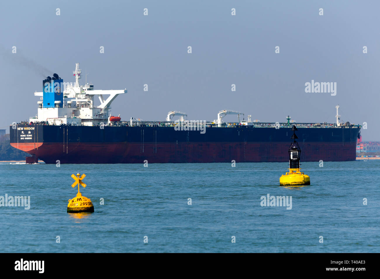 New Wisdom,registered,Chemical,Southampton,services,port,towing,Tanker,Oil,Refinery,Fawley,The Stock Photo