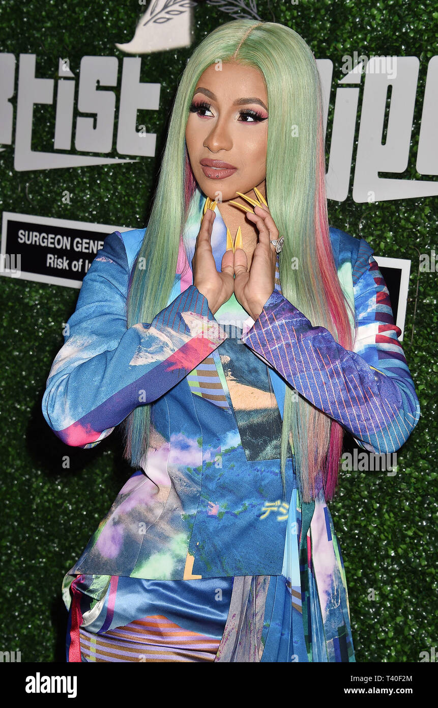 WEST HOLLYWOOD, CA - APRIL 12: Cardi B attends the Swisher