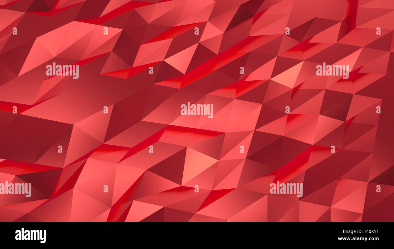 Triangle polygon shapes background. 3D deco geometric gold. 3D rendering. Stock Photo