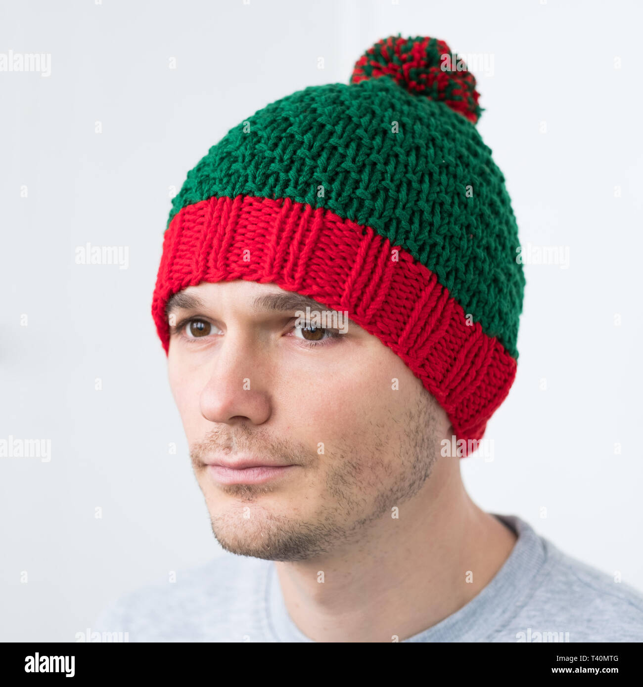 0e570da6910 Green Beanie Stock Photos   Green Beanie Stock Images - Alamy