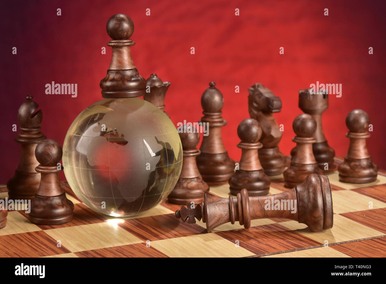 Chess game photo concept - Stock Image