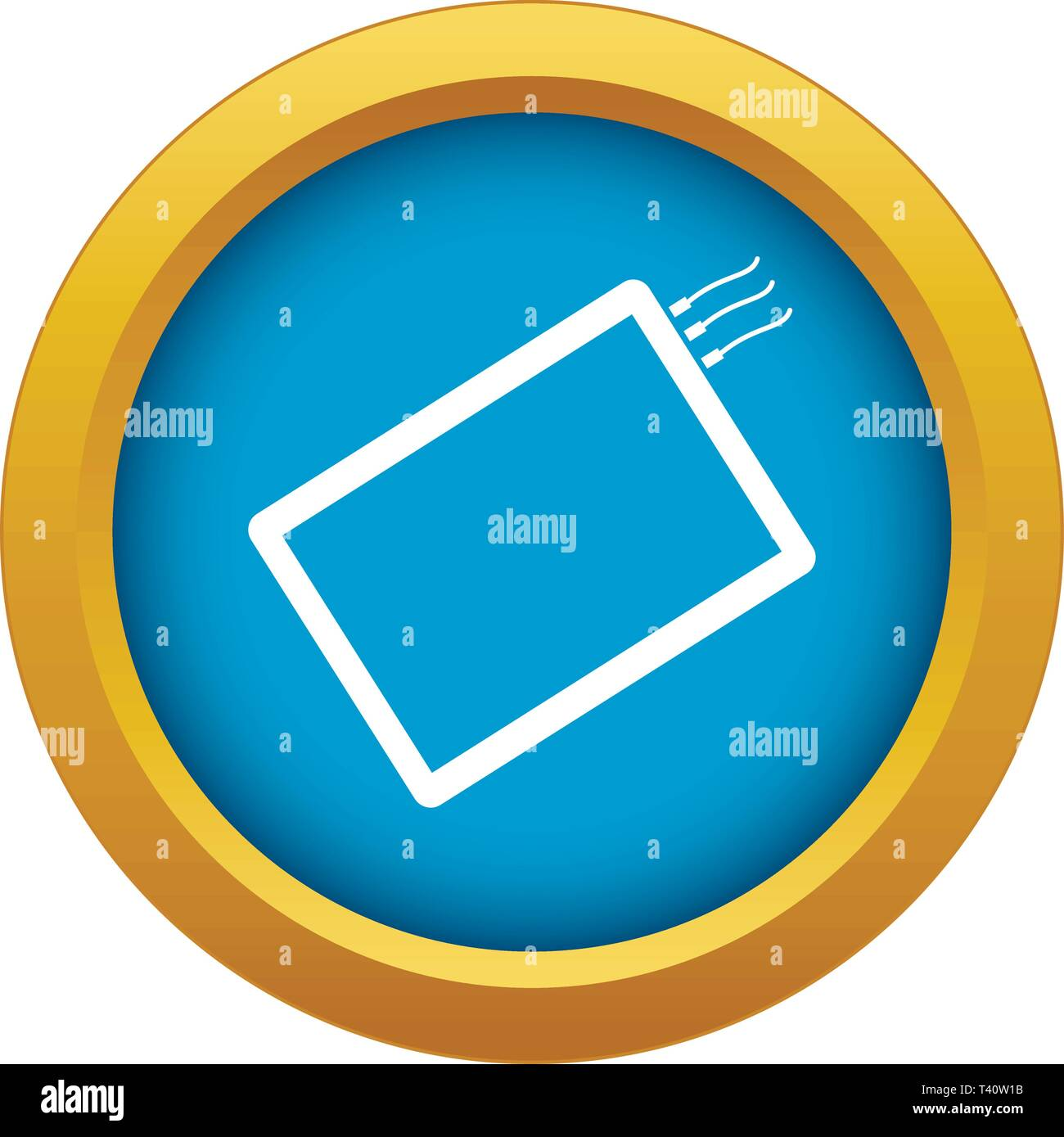 One phone icon blue vector isolated Stock Vector Art