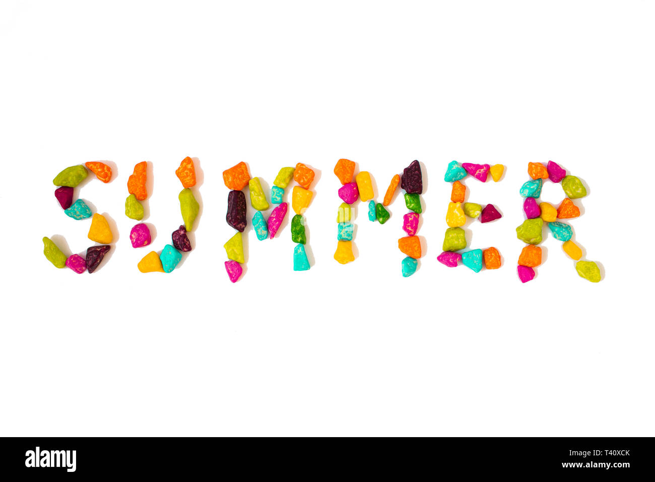 The photo of summer word for web background or tourist invitation. - Stock Image