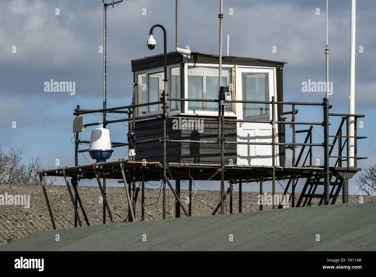 WHITE WALTHAM, ENGLAND - MARCH 2019: Control tower at White Waltham airfield. - Stock Image