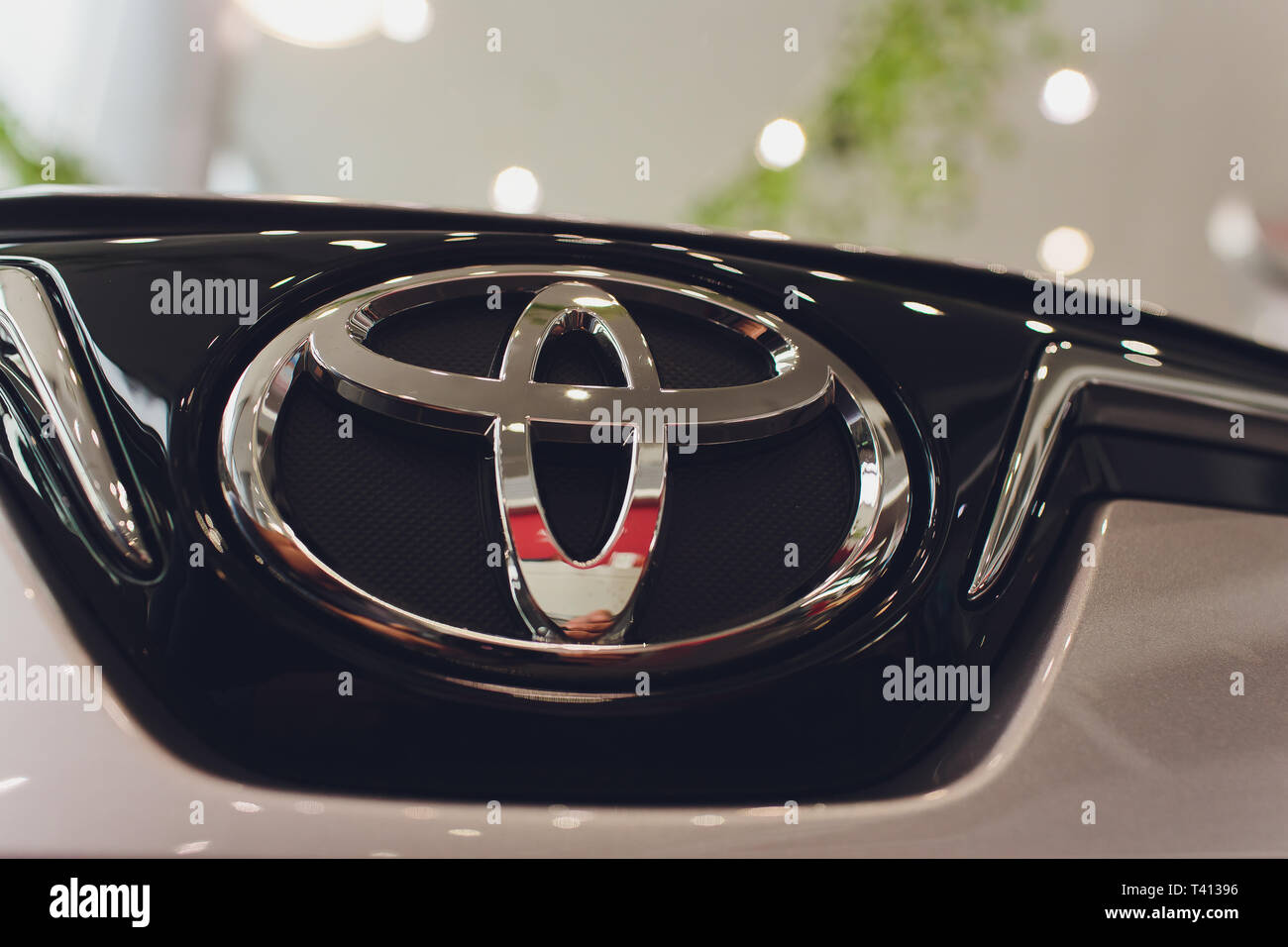 Ufa, Russia - 14 February 2019 All-new Toyota Corolla