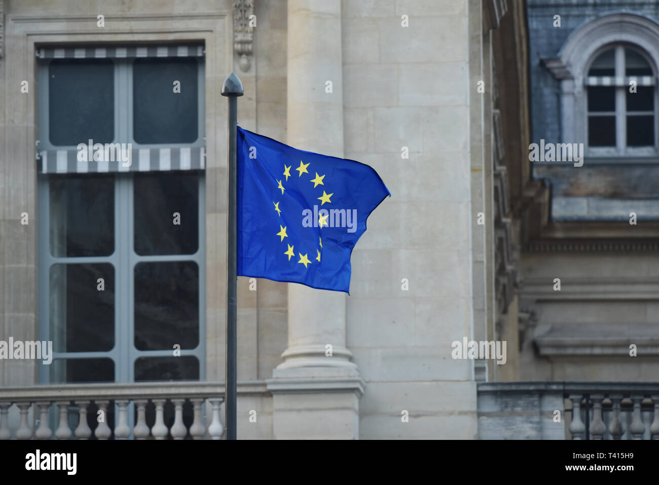 The Flag of Europe - used by the European Union and Council of Europe - Stock Image