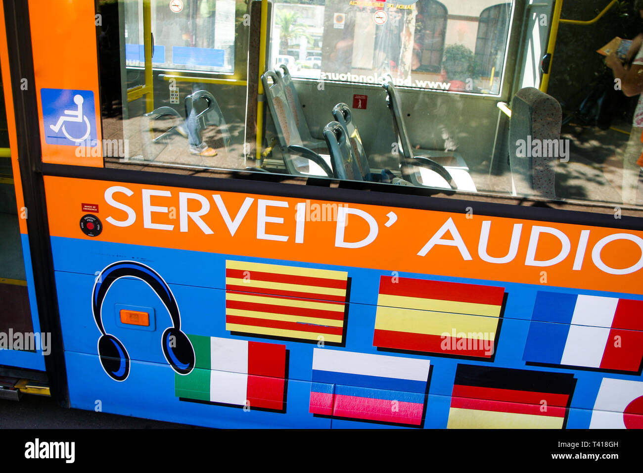 Touristic bus, Barcelona, Catalonia, Spain - Stock Image