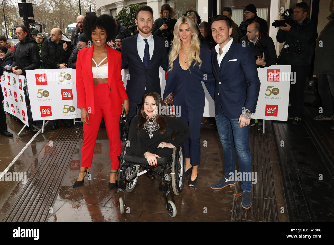 The Tric Awards 50th Anniversary held at Grosvenor Road - Arrivals  Featuring: Rachel Adedeji, Sarah Jayne Dunn Where: London, United Kingdom When: 12 Mar 2019 Credit: Lia Toby/WENN.com - Stock Image