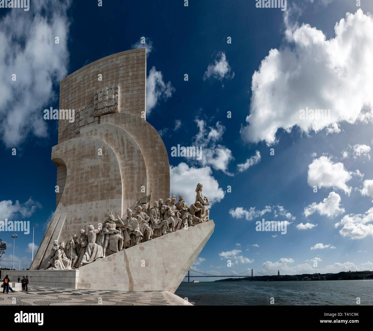 Padrão dos Descobrimentos (Monument of the Discoveries), Belem, Lisbon, Portugal - Stock Image