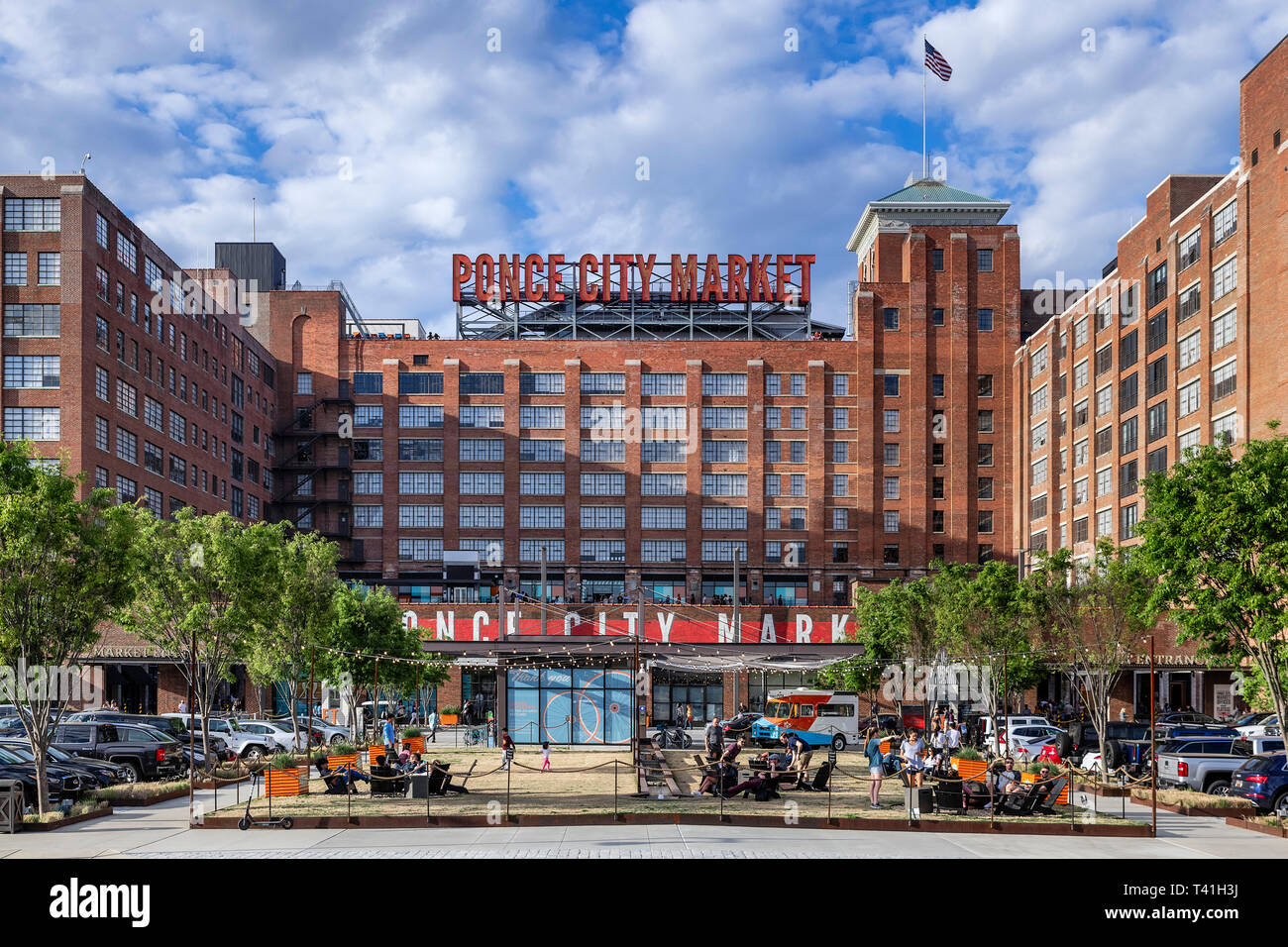 Ponce City Market, Atlanta, Georgia, USA. - Stock Image