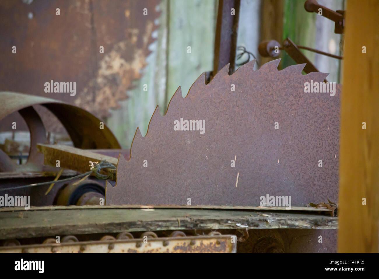 Rusty Buzz Saw - Stock Image