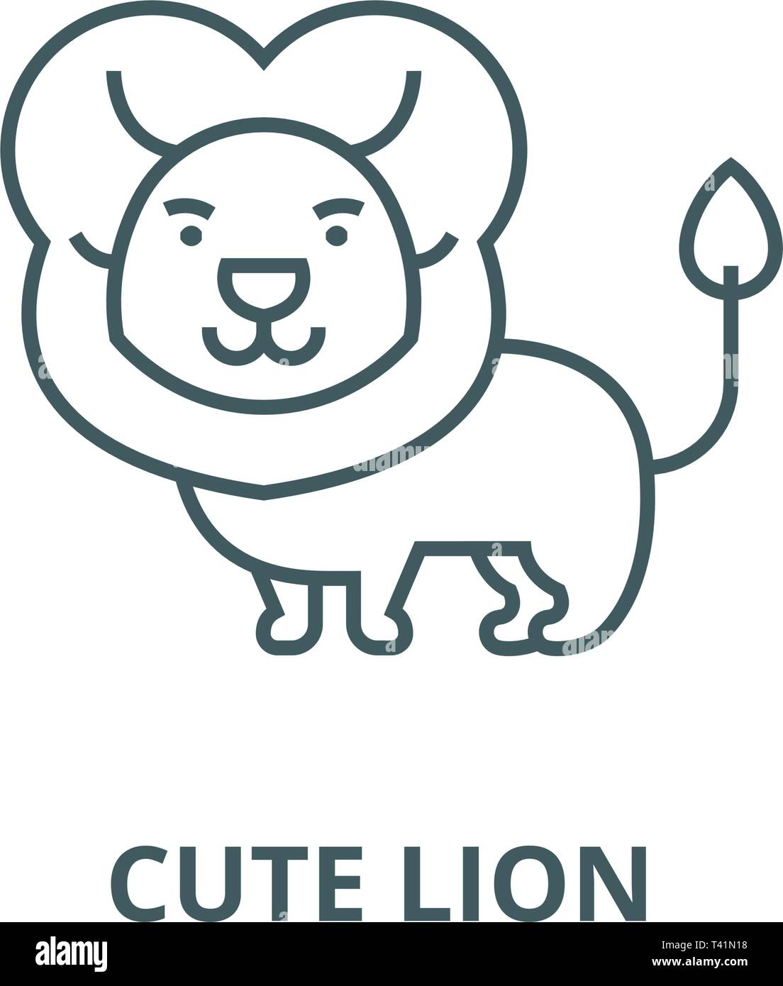 Cute Lion Line Icon Vector Cute Lion Outline Sign Concept Symbol Flat Illustration Stock Vector Image Art Alamy Lion cartoon transparent images (4,047). https www alamy com cute lion line icon vector cute lion outline sign concept symbol flat illustration image243442228 html