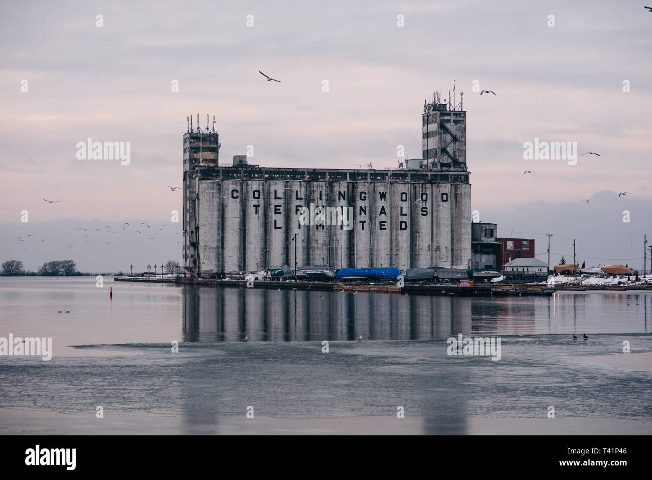 Collingwood terminals lake front, Ontario, Canada Stock Photo