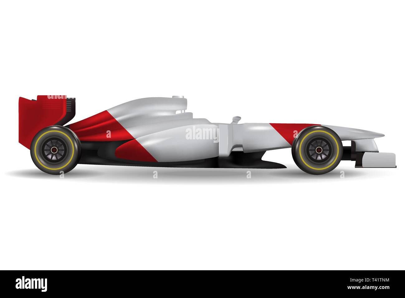 Realistic race car template mock up Stock Vector Art