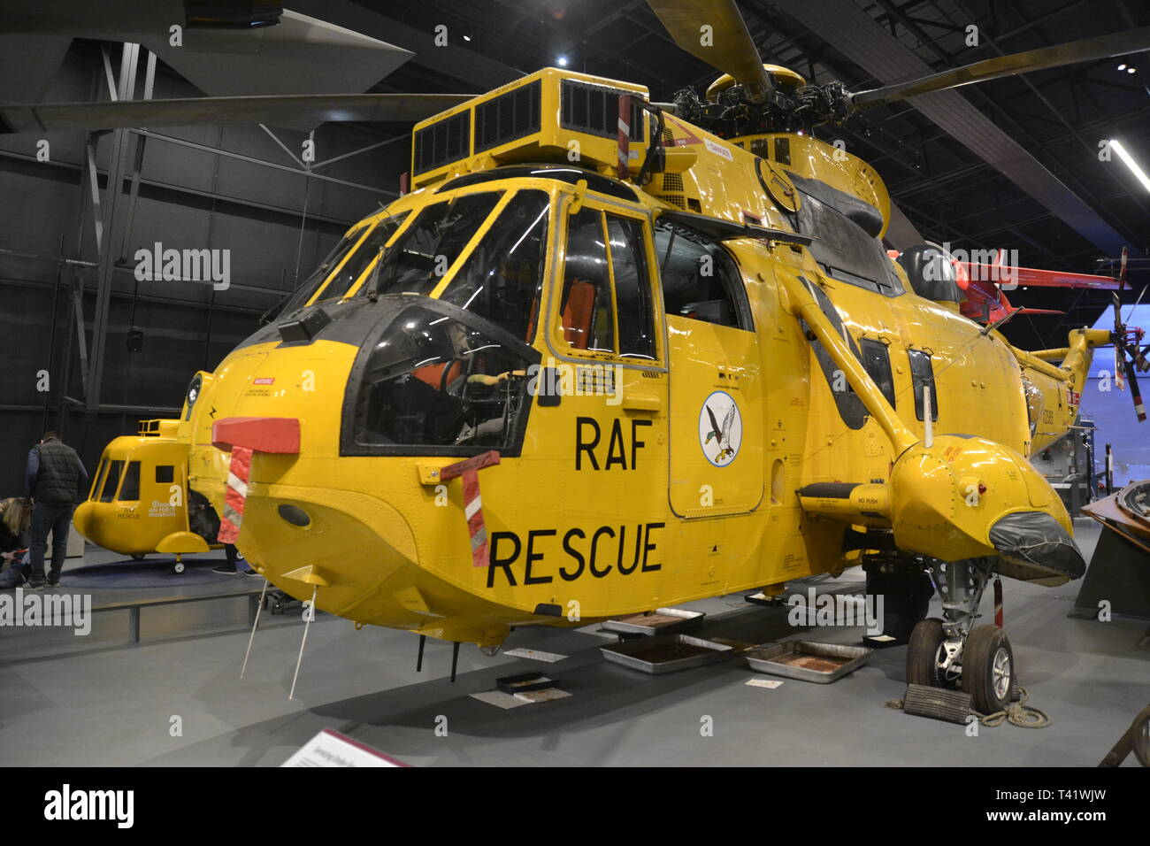 Westland Sea King HMR3 Rescue Helicopter 1962-1978 at the RAF Museum, London, UK - Stock Image