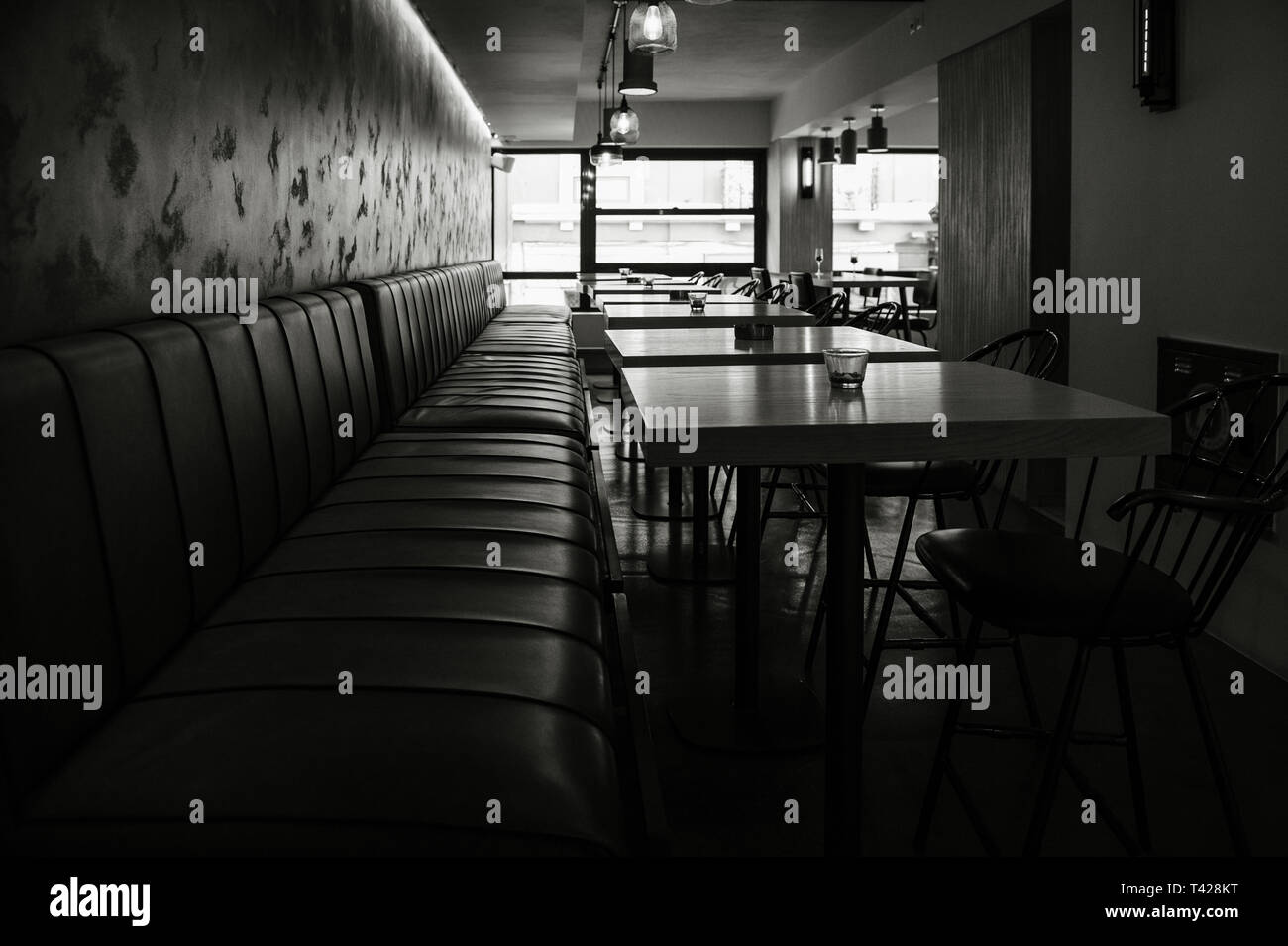 Modern Interior Restaurant Black White High Resolution Stock Photography And Images Alamy