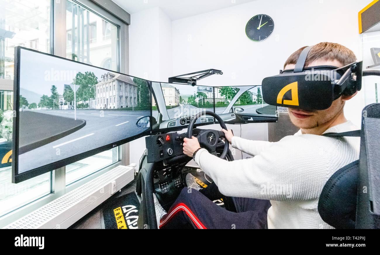 Driving Simulator Training Stock Photos & Driving Simulator