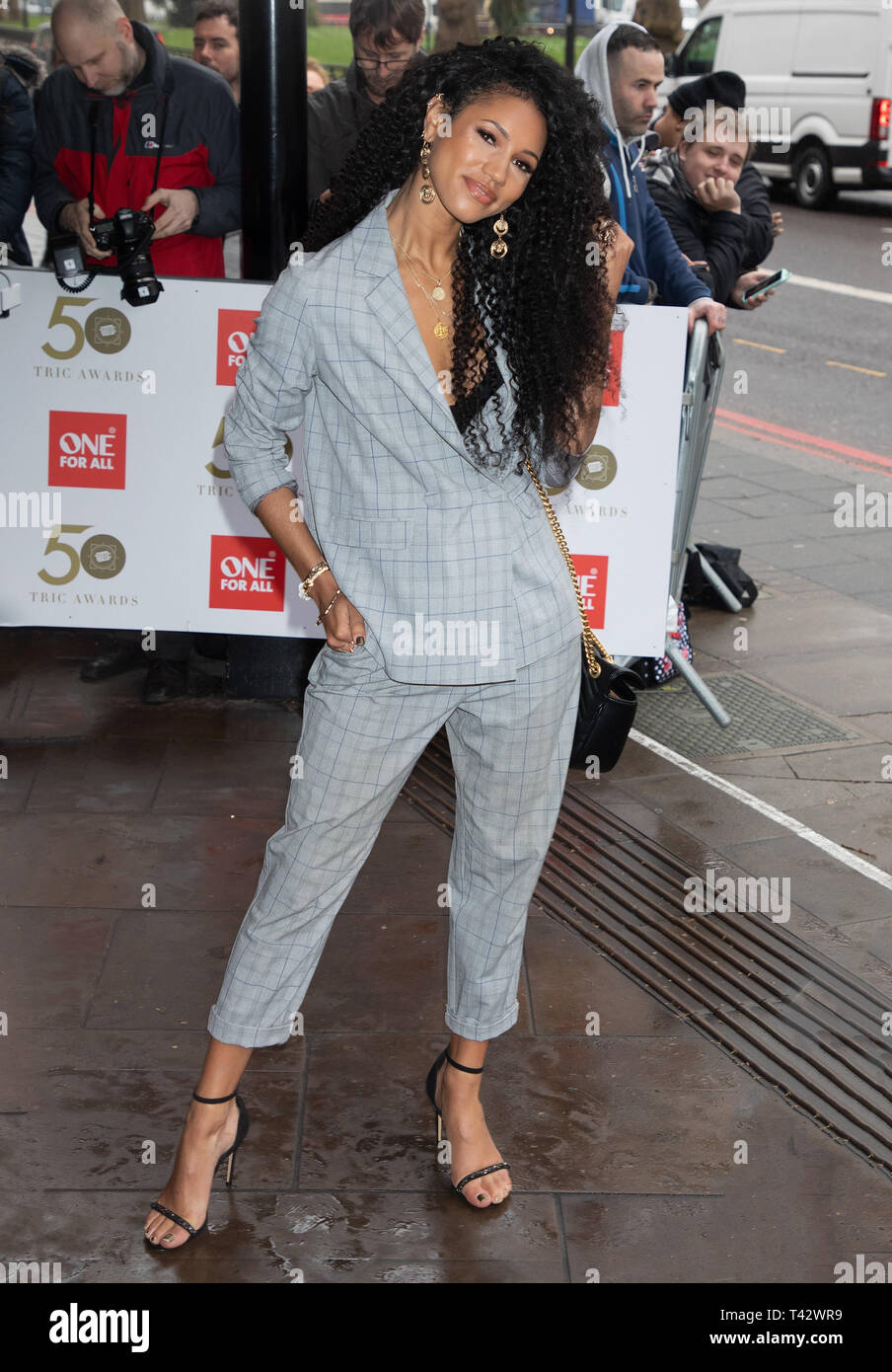 TRIC Awards 2019 held at the Grosvenor House Hotel  Featuring: Vick Hope Where: London, United Kingdom When: 12 Mar 2019 Credit: WENN.com - Stock Image
