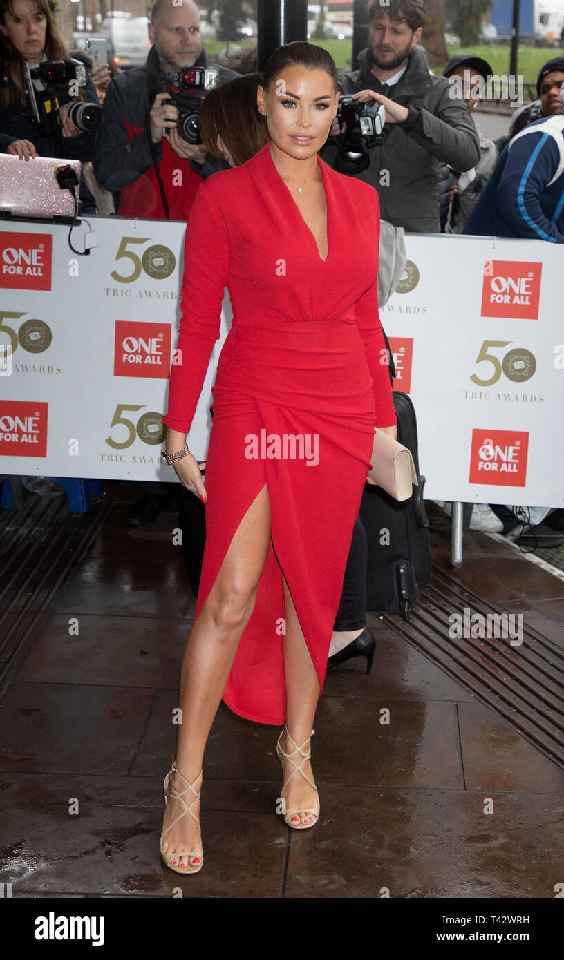 TRIC Awards 2019 held at the Grosvenor House Hotel  Featuring: Jessica Wright Where: London, United Kingdom When: 12 Mar 2019 Credit: WENN.com - Stock Image