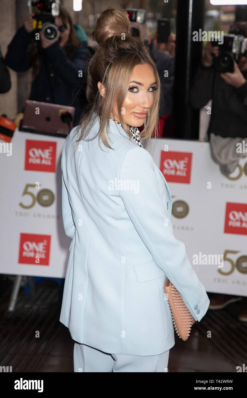 TRIC Awards 2019 held at the Grosvenor House Hotel  Featuring: Megan McKenna Where: London, United Kingdom When: 12 Mar 2019 Credit: WENN.com - Stock Image