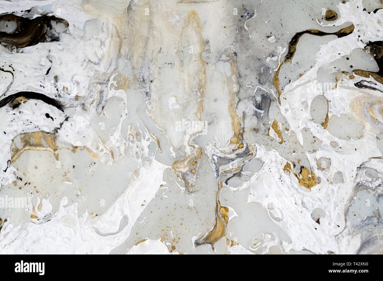 Marble Background Texture With Marble Background Texture With Gold Black Grey And White Colors Using Acrylic Pouring Medium Art Technique Stock Photo Alamy