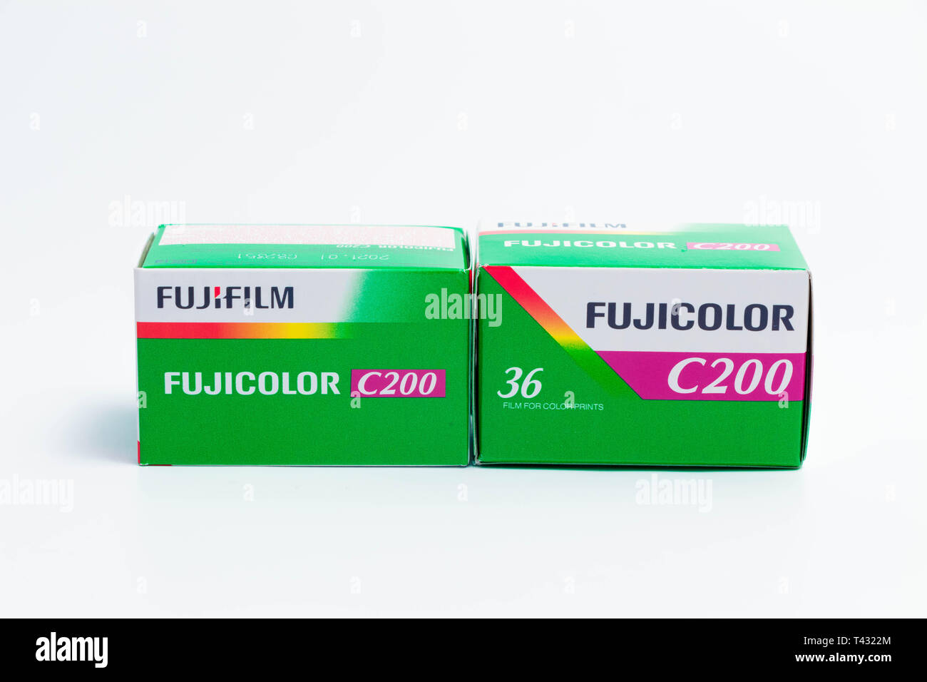 35mm film Kodak  and fujifilm fujicolor 36 exposure for analog photography Stock Photo