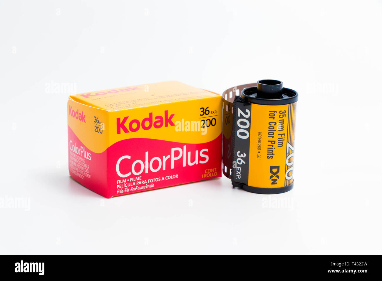 35mm film Kodak  and fujifilm fujicolor 36 exposure for analog photography Stock Photo