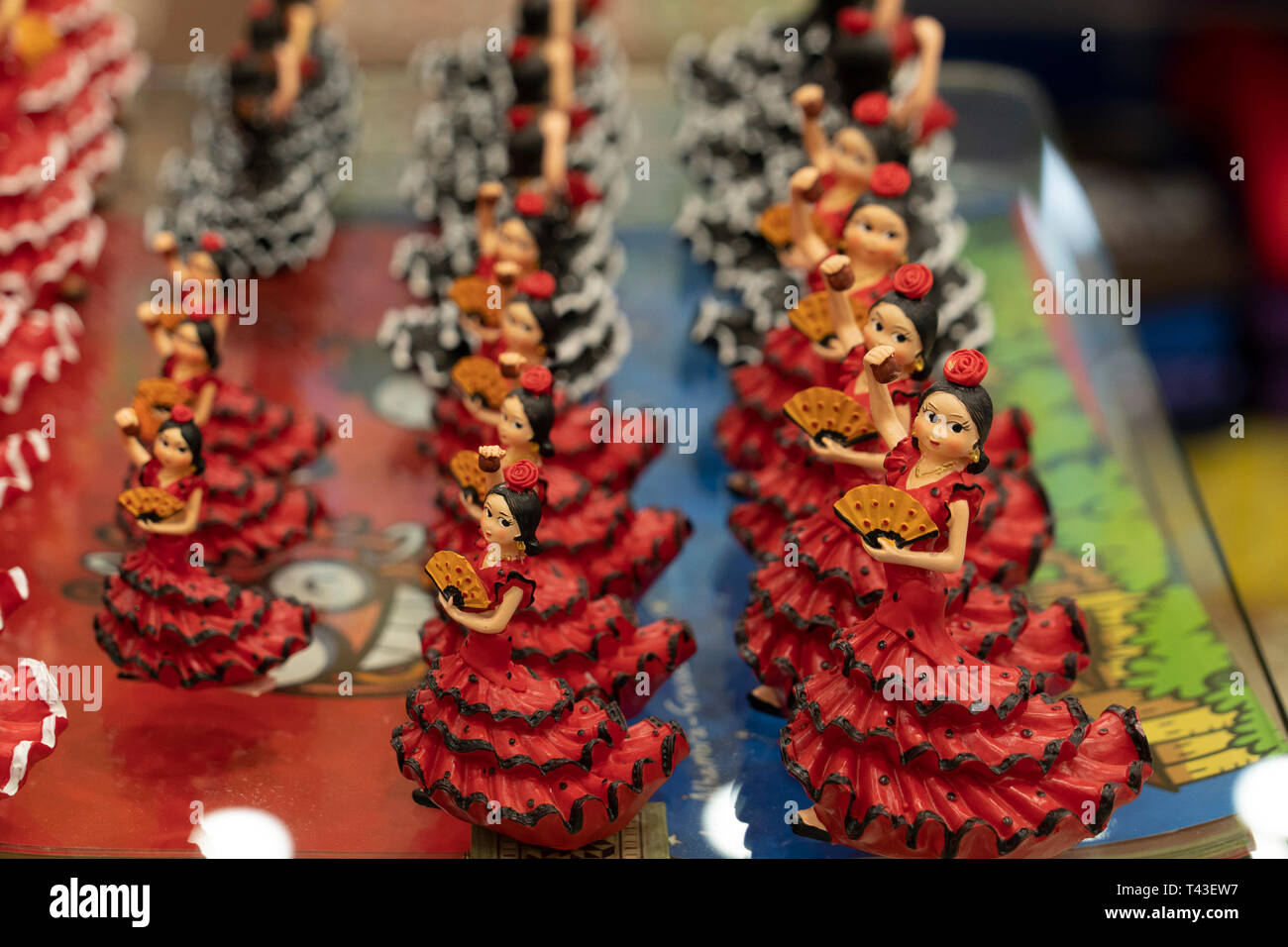 Granada Spain souvenir shop detail flamenco dancer - Stock Image