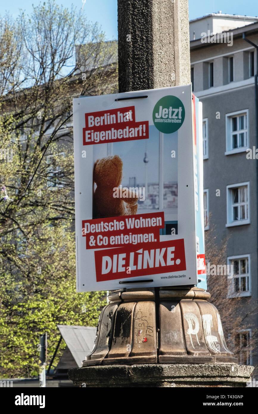Berlin. Election poster, European Elections 23-26 May 2019, SDP poster Slogan Macht Europa Sozial - Stock Image
