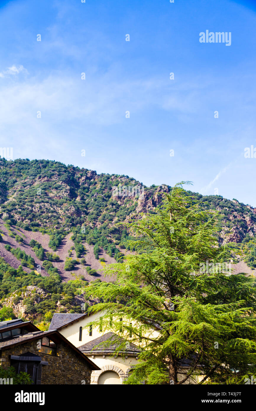 Sant Esteve church located in Andorra la Vella, Andorra Stock Photo