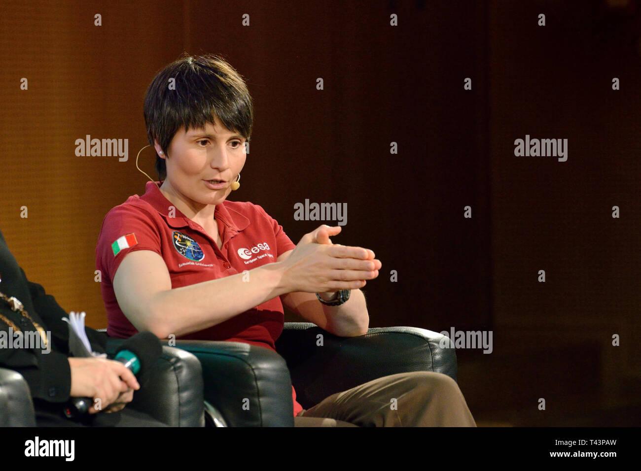 ESA Astronaut Samantha Cristoforetti - April 2019 - Stock Image