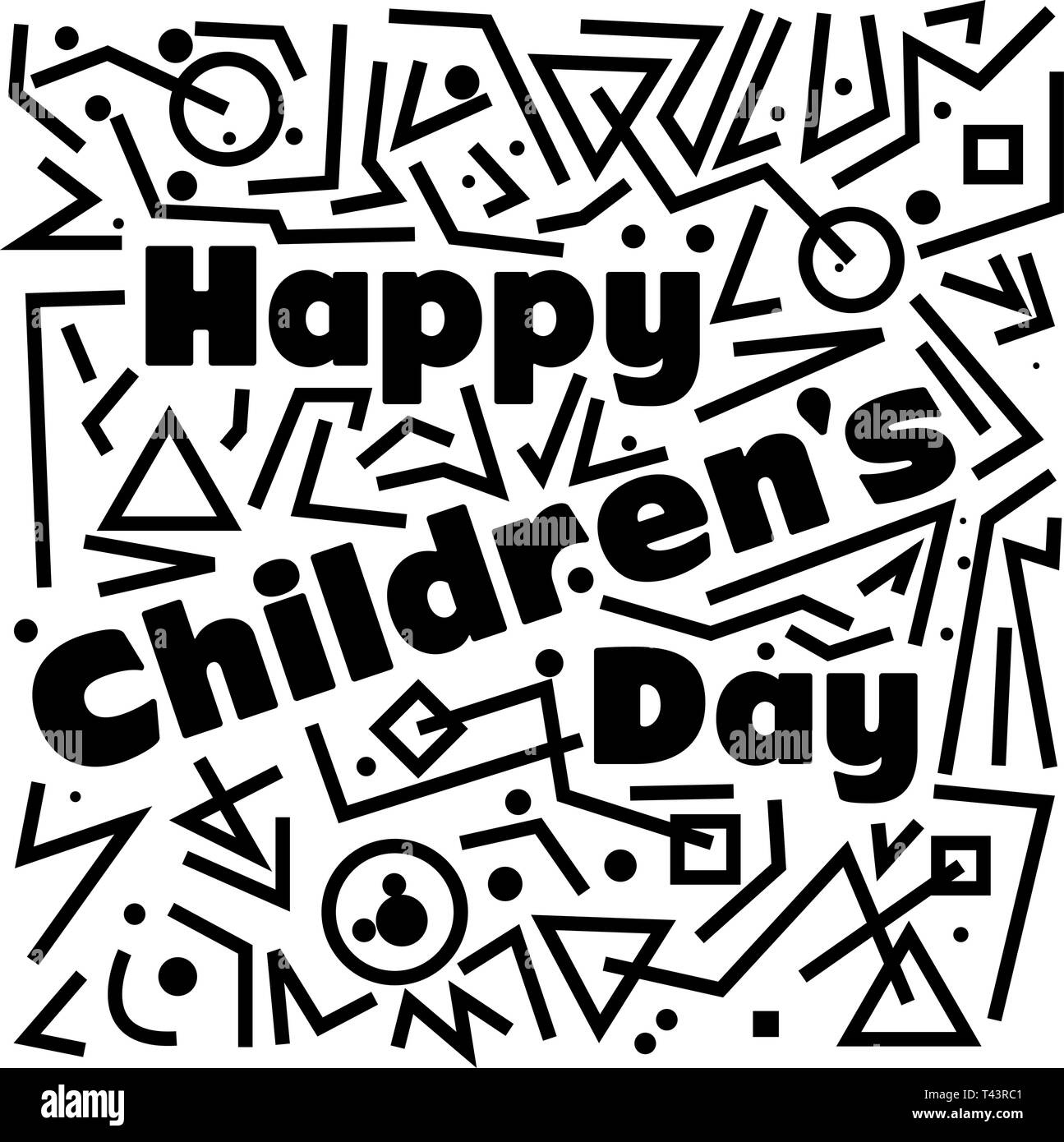 Happy Children S Day Template Design For Web Creative