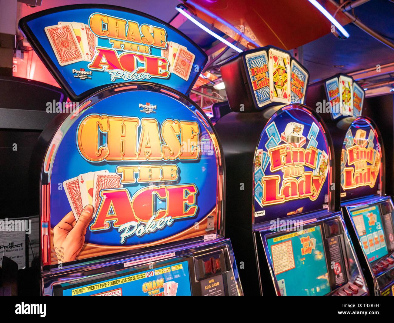 Card game gambling machines, London, UK - Stock Image