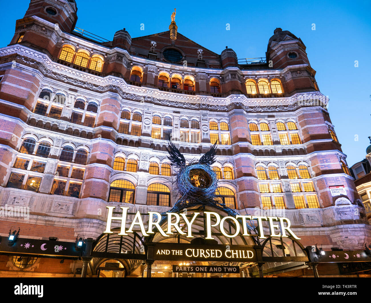 Harry Potter an the Cursed Child at the Palace Theatre, Shaftesbury Avenue, London, UK - Stock Image