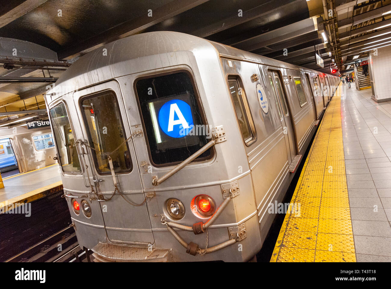 The A train New York subway line, New York City, USA - Stock Image