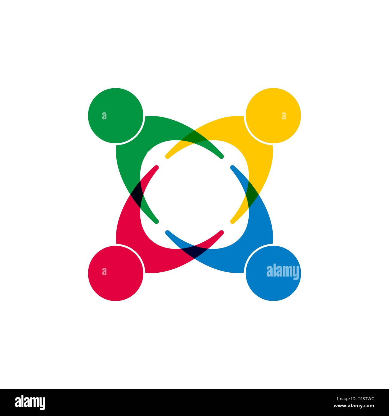 Symbol Of Unity Of Different People Flat Design Stock Vector Image Art Alamy