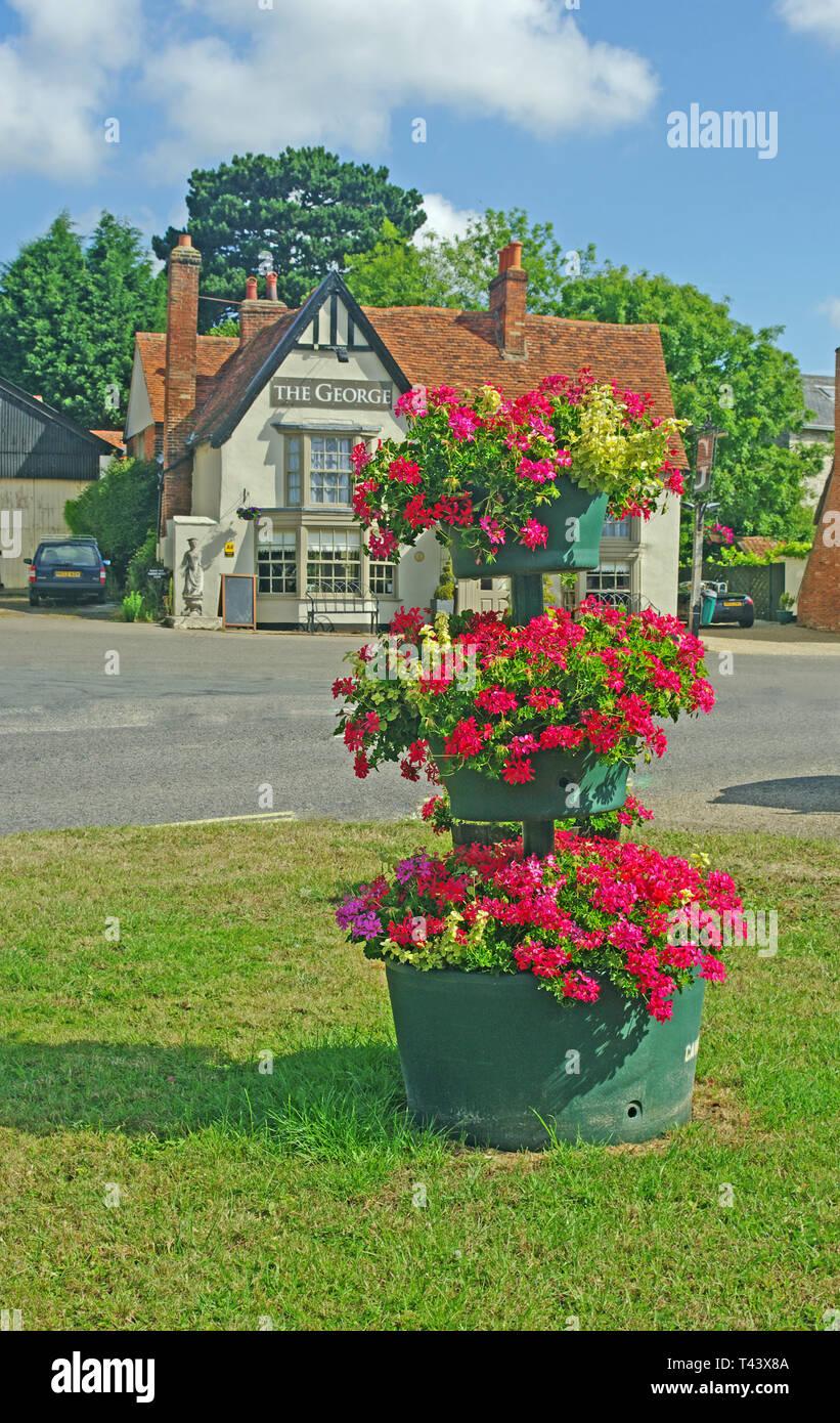 Flower Pot, Cavendish, Suffolk - Stock Image