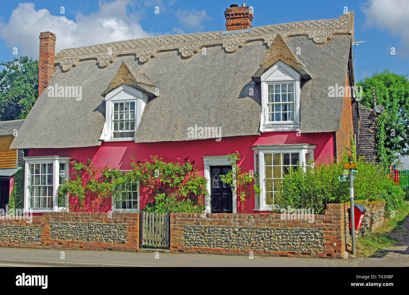 Thatch Cottage, Cavendish, Suffolk - Stock Image
