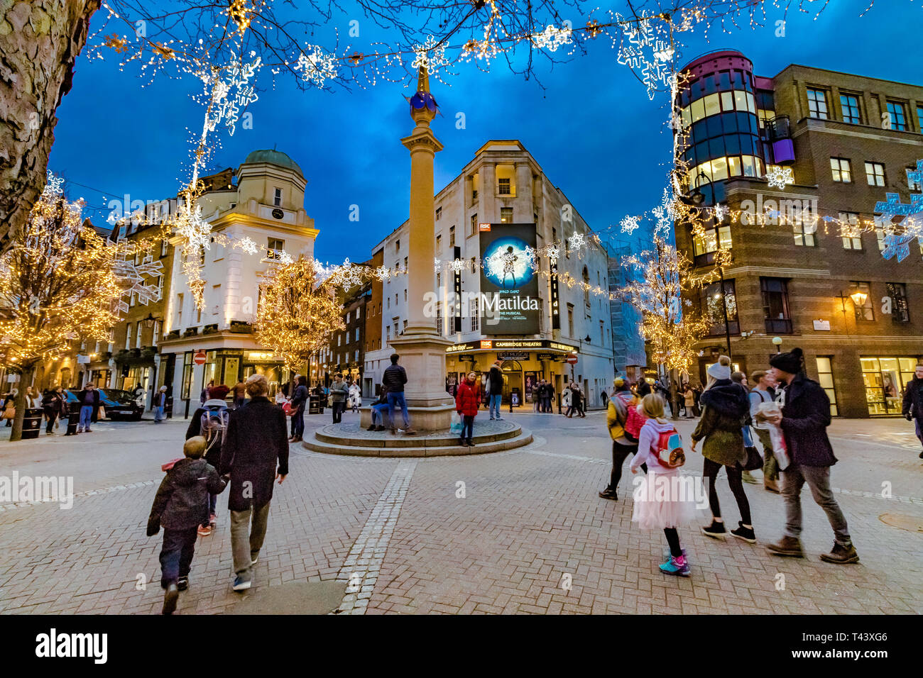 Musical Christmas Lights.The Christmas Lights At Seven Dials Busy With Shoppers And
