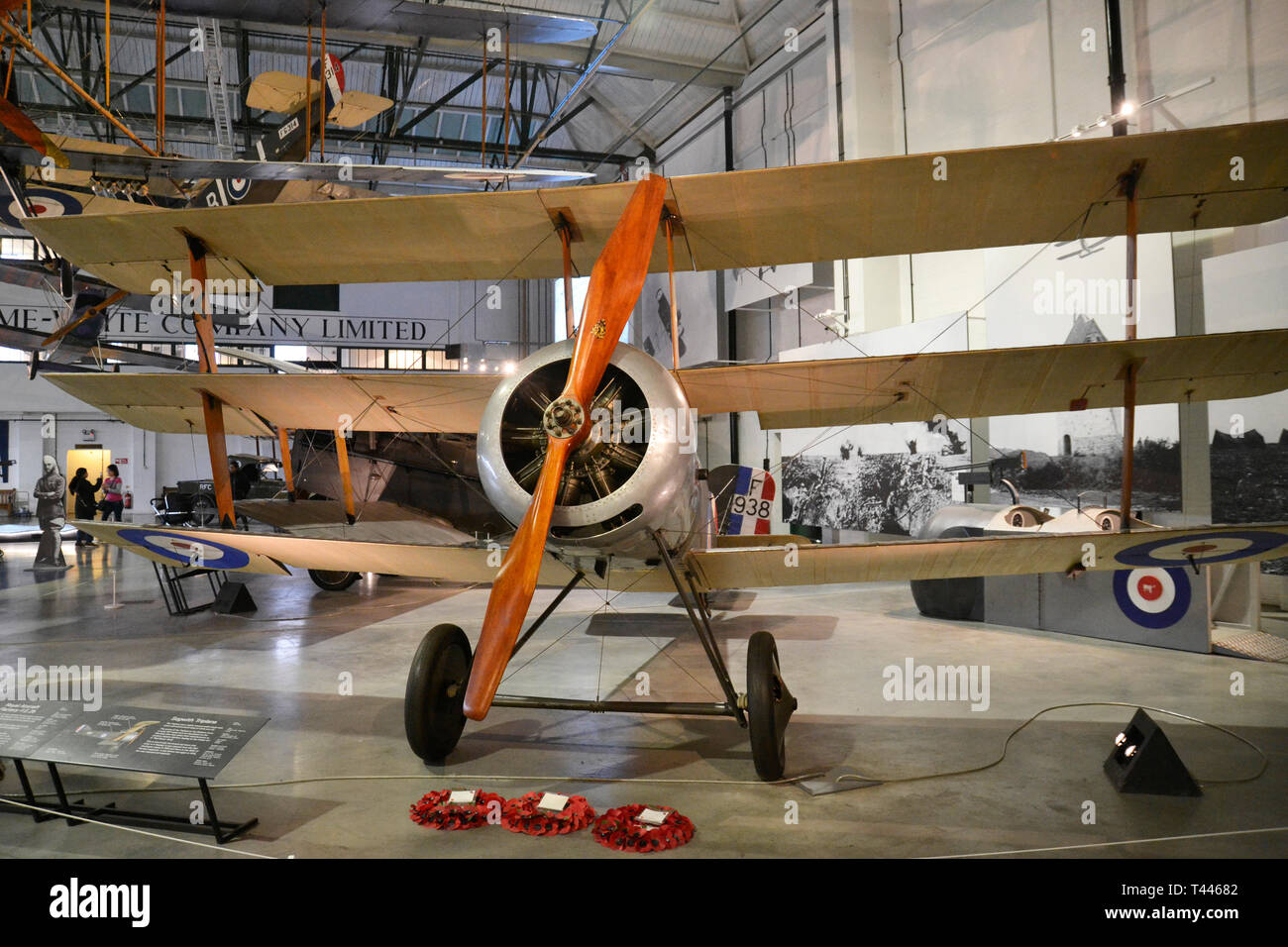 Sopwith Triplane from WWI, at the RAF Museum, London, UK. 1916-1918 Stock Photo