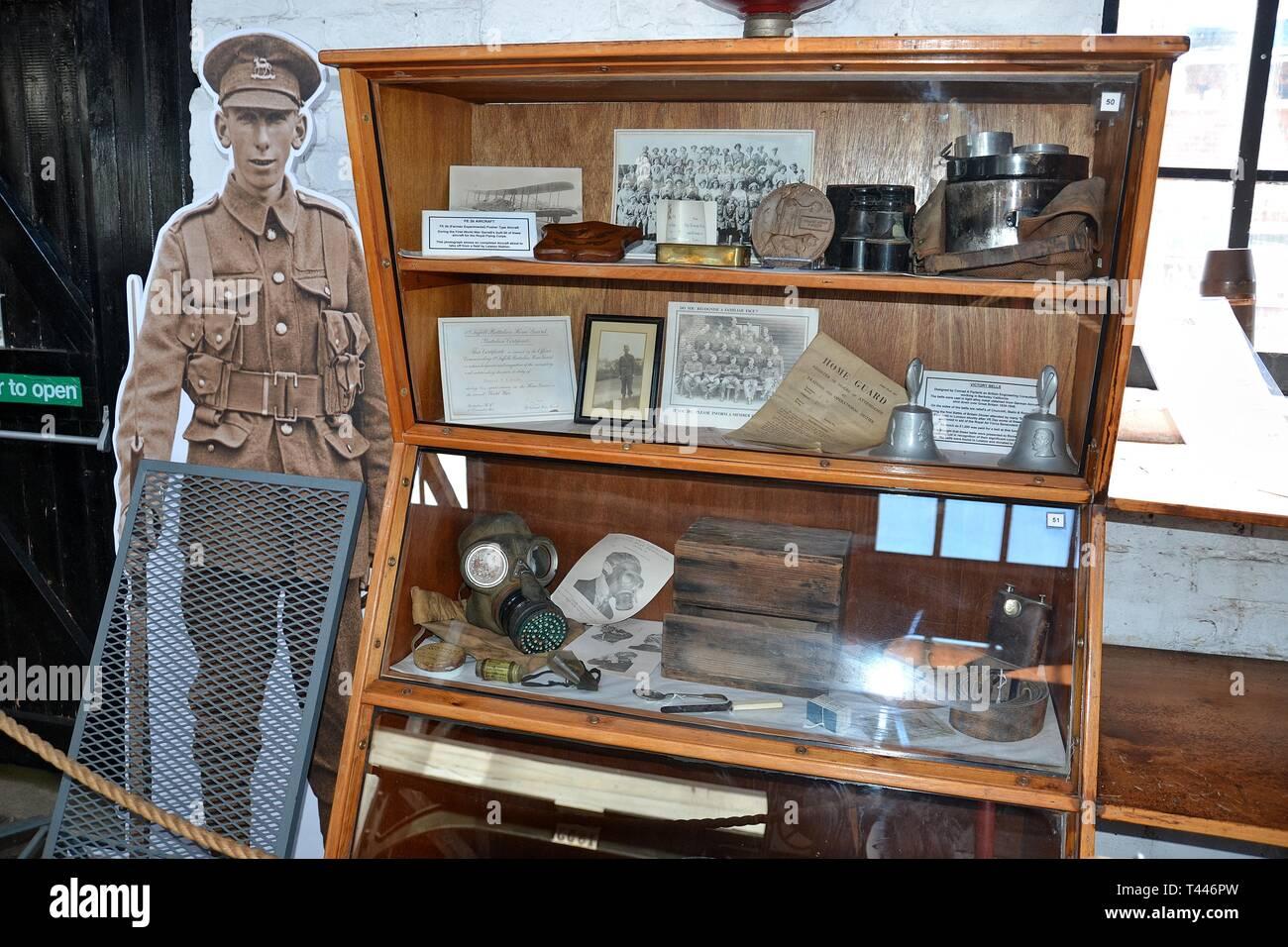 War exhibition at the Long Shop Museum, Leiston, Suffolk, UK Stock Photo