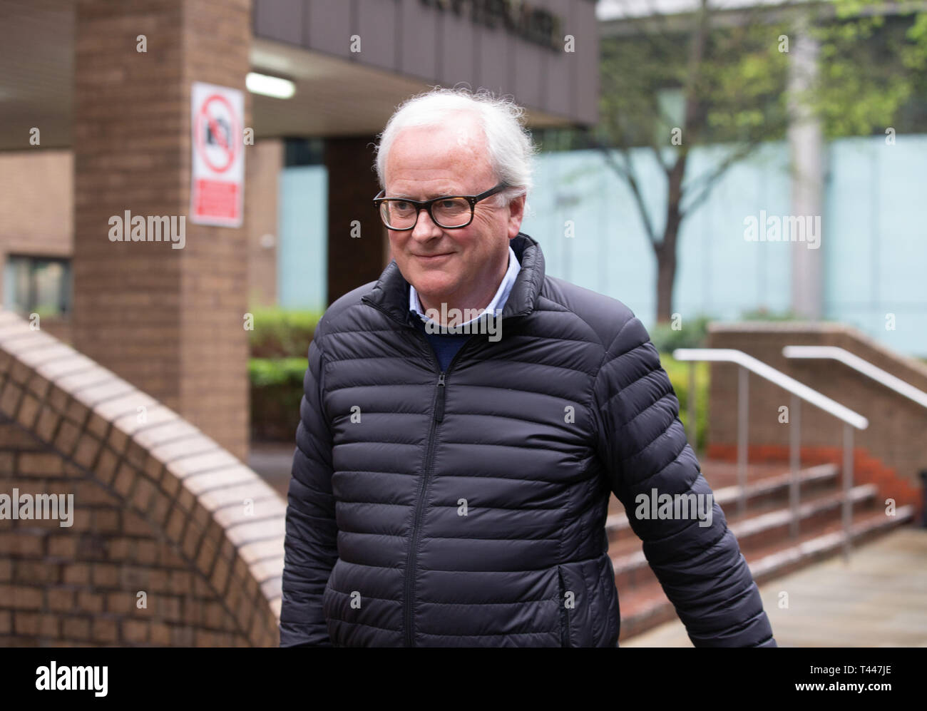 John Varley, Former Chief Executive of Barclays Bank, leaves Southwark Crown Court. The trial has been thrown out by the judge. The SFO may appeal. - Stock Image