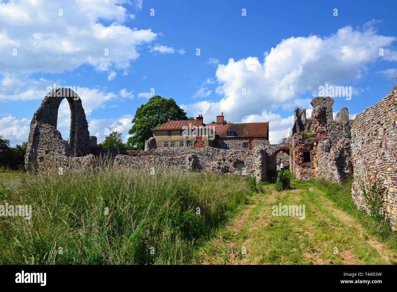 Leiston Abbey, Theberton, Leiston, Suffolk, UK Stock Photo