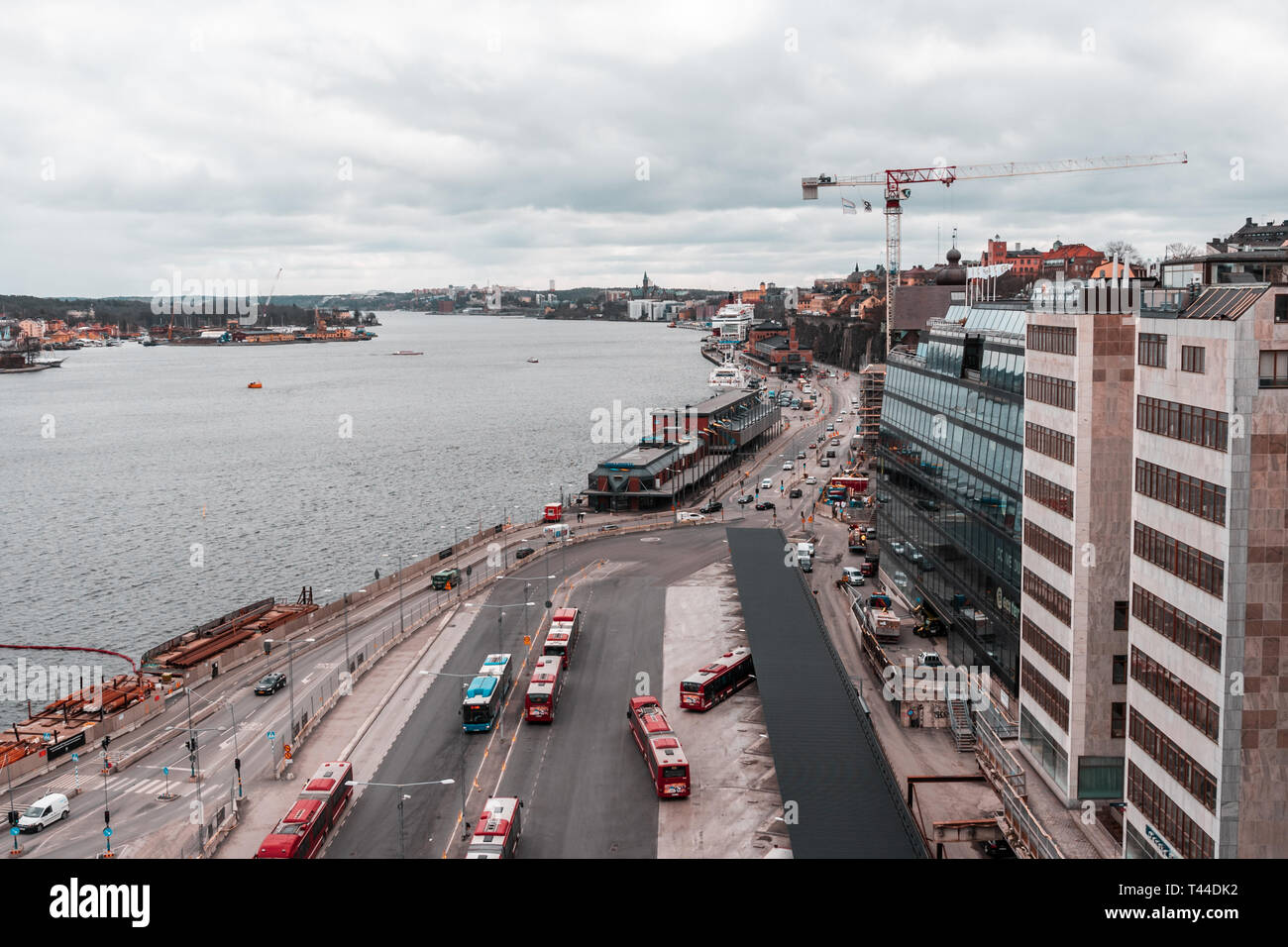 Editorial 03.26.2019 Stockholm Sweden. View of Statsgarden and Viking Lines MS Gabriella in the background - Stock Image
