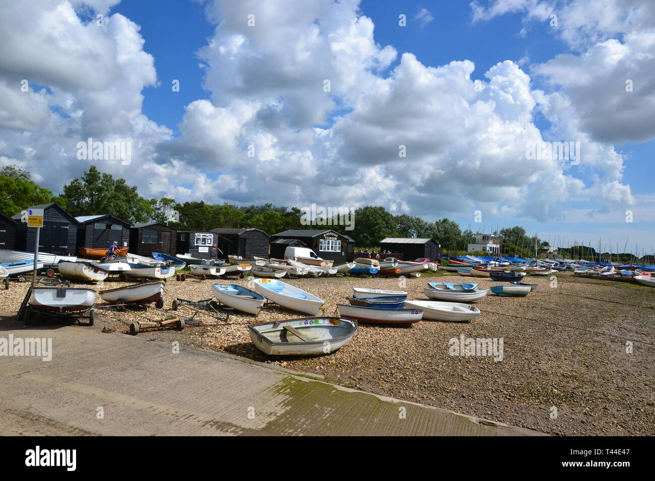 Orford Quay, Orford, Suffolk, UK Stock Photo