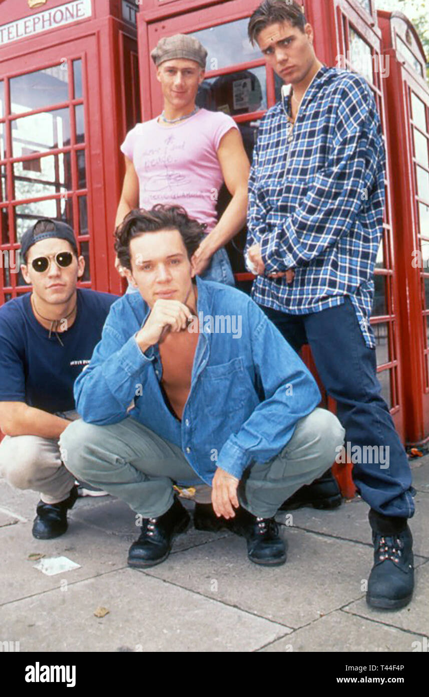BAD BOYS INC British boy band in 1993 - Stock Image