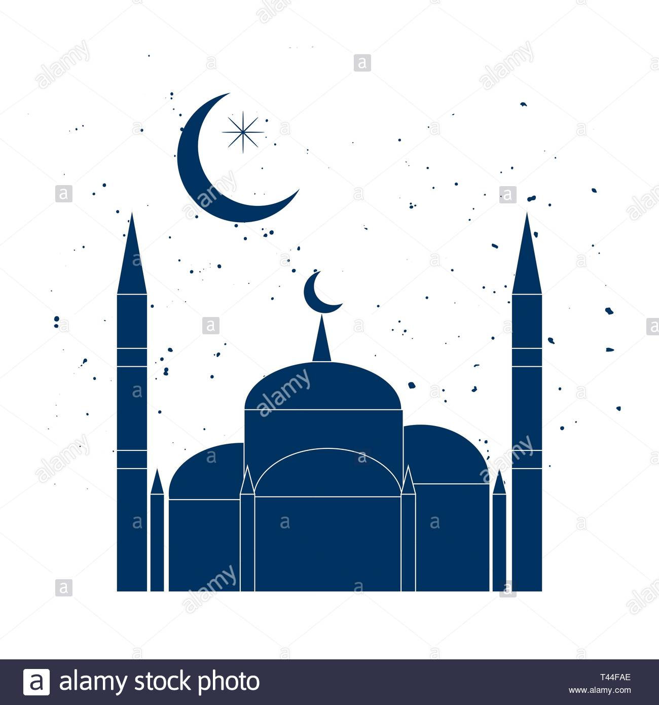 Ramadan Kareem background with mosque silhouettes against night sky -  Download Free Vectors, Clipart Graphics & Vector Art